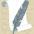 Quill and Scroll — Imagen vectorial