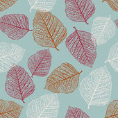 Vector naadloze patroon van gekleurde bladeren — Stockvector