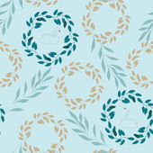 Vector Seamless Floral Pattern — Vecteur