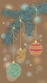 Christmas-Tree Decorations — Stockvektor