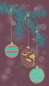 Christmas-Tree Decorations — Stock Vector