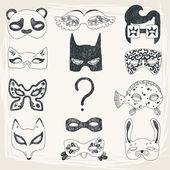 Masquerade Set — Stock Vector