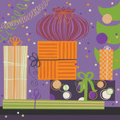 Pile of Wrapping Gifts — Stock Vector
