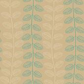 Wzór z liści złoty i niebieski — Wektor stockowy