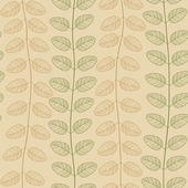 Pattern with Golden and Green Leaves — Stock Vector