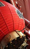 Lampada di carta grande il cancello del tempio — Foto Stock