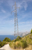 High-Voltage Transmission Tower — Fotografia Stock
