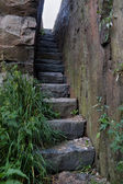 Stairs Hewn in Rock — Stockfoto