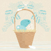 Tall Easter Basket — Stock Vector