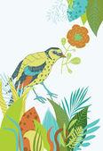 Bird in the Bushes — Stock vektor