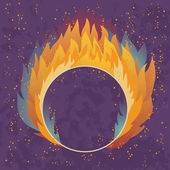 Ring in the Fire — Stock Vector