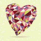 Bright Crystal Heart — Stock Vector