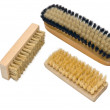 Stock Photo: Wooden soft body brush