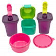 Storage plastic containers — 图库照片
