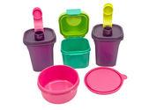 Storage plastic containers — Stock Photo