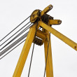 Top beam of crane mobile - Stock Photo