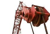 Top beam of crane mobile — Stock Photo