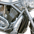 Motorcycle chrome metal grille — Stock Photo