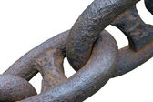 Old anchor chain — Foto Stock