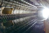 地下潜水艦基地の博物館 — ストック写真