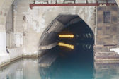 Top secret submarine base of the soviet union ukraine — Stock Photo
