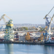 Large crane in port — Stock Photo