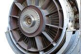 Jet engine close-up — Stock Photo