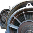 Jet engine close-up — Stock Photo