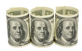 American dollars rolled up — Stock Photo
