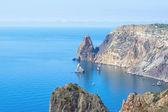 Dağlar ve deniz — Stok fotoğraf