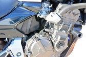 Motocykl chromowany grill metalowy — Zdjęcie stockowe