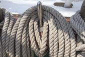 Tuigage op een schip — Stockfoto
