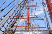 Oude zeilboot tuigage — Stockfoto