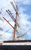 Old sailing boat rigging — Stock Photo