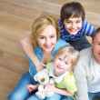 Family at home — Stockfoto