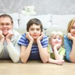 Stock Photo: Family at home