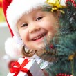 Little Santa girl — Stock Photo #13303564