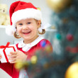 Little Santa girl — Stock Photo #13303569