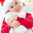 Little Santa girl — Stock Photo #13303572