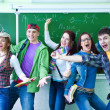 Group of young happy students — Stock Photo