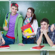Study group in classroom — Stock Photo