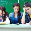 Students on exam in class — Stock Photo #13303886