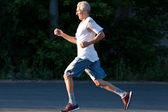 Senior runner — Stock Photo