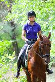 Menina no cavalo — Fotografia Stock