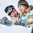 Couple in snow — Stock Photo #13356487