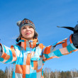 Woman - skier — Stock Photo #13356582