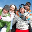 Friends on winter vacation — Stock Photo #13356631