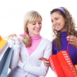 Stock Photo: Girlfriends on shopping