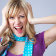 Scream woman — Stock Photo