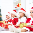 Funny christmas company — Stock Photo